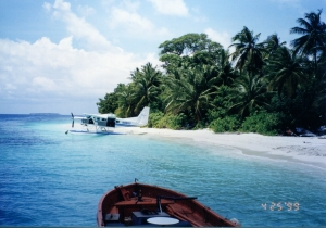 Caravan on the beach - Maldives. Photo Credit: Author