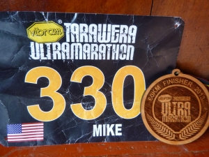 Tarawera Ultra Race Number and Finisher Award