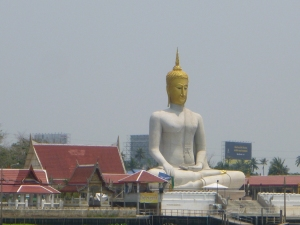 Statue on the Chao Phraya River