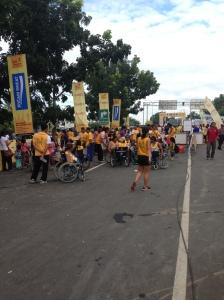 Bali Marathon Wheelchair Race Staging.